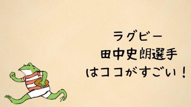 ラグビー田中史朗の凄さは?