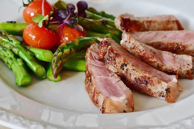 タンパク質が中心の食事