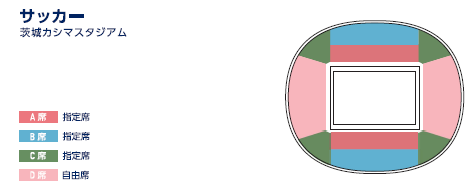茨城カシマスタジアムの座席表